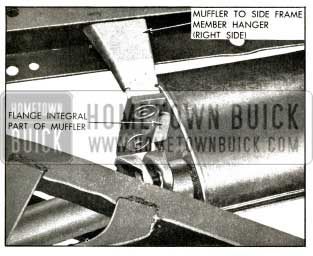 1956 Buick Front of Muffler and Hanger