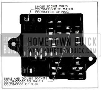 1956 Buick Fuse Block Top View