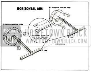 1956 Buick Headlight Horizontal Aim