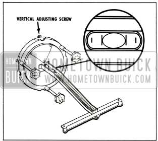 1956 Buick Headlight Vertical Adjustment