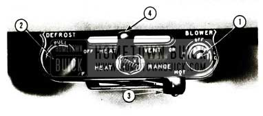 1956 Buick Heater and Defroster Controls