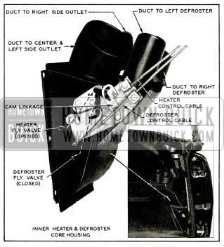 1956 Buick Inner Heater and Defroster Core Housing