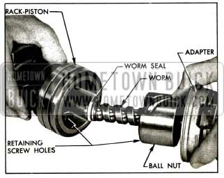 1956 Buick Installing Worm Assembly in Back-Piston