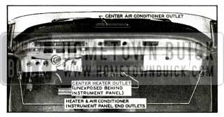 1956 Buick Instrument Panel Air Outlets