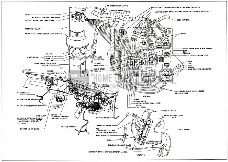1956 Buick Instrument Panel Wiring Color Code