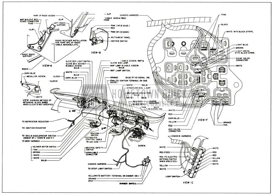 1956 Buick Instrument Panel Wiring