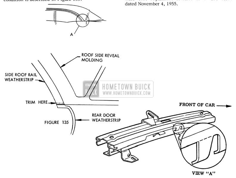1956 Buick Interference between Weatherstrips
