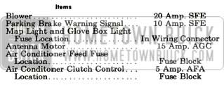 1956 Buick Lighting System Specifications