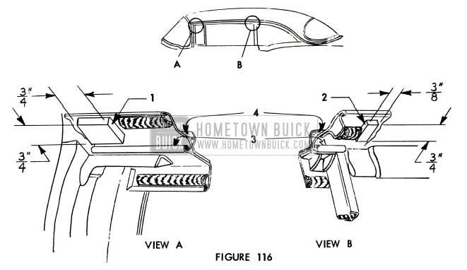 1956 Buick Mechanical Door Sealing Strip