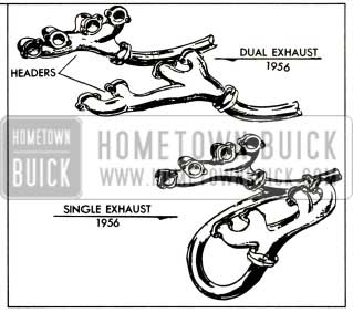 1956 Buick New Dual and Single Exhaust Systems