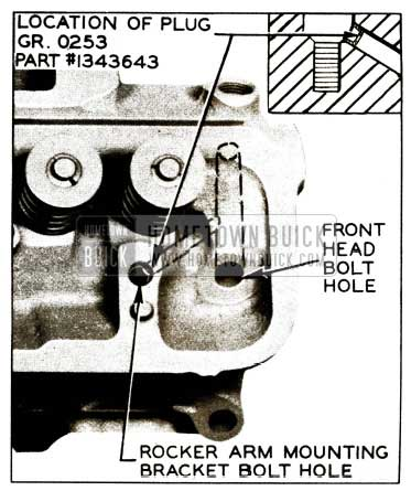 1956 Buick Oil Flow to Valve Train Plug