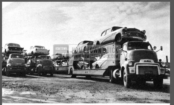 1956 Buicks On Trailer