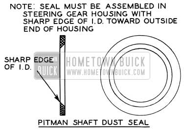 1956 Buick Pitman Shaft Dust Seal