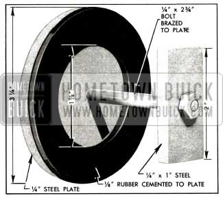 1956 Buick Plate and Washer for Pump Test