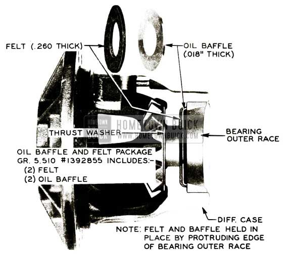1956 Buick Rear Axle Oil Baffle Installation-First Type