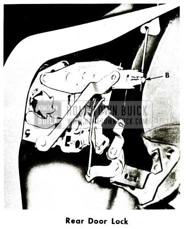 1956 Buick Rear Door Lock