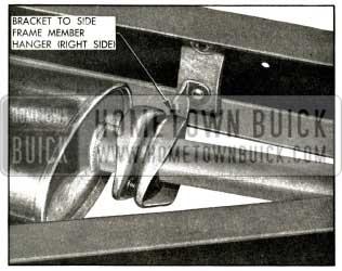 1956 Buick Rear of Muffler and Hanger