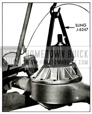 1956 Buick Removing Carrier Assembly from Rear Axle Housing