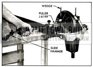 1956 Buick Removing Differential Bearing Supports