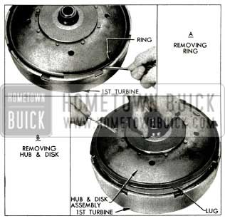 1956 Buick Removing Disk and Hub Assembly