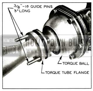 1956 Buick Removing Torque Tube from Torque Ball