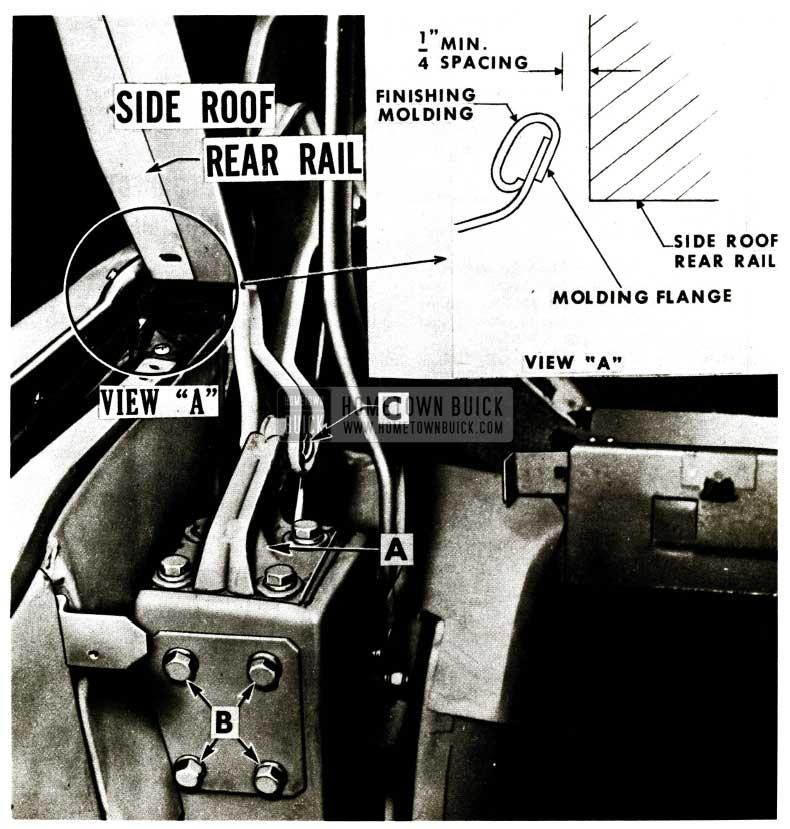 1956 Buick Side Roof Rear Rail