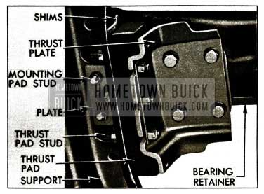 1956 Buick Transmission Mounting Pad Stud Nuts