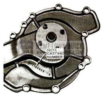 1956 Buick Water Pump Cover