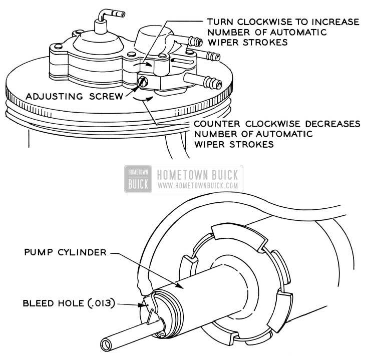 1956 Buick Windshield Wiper Stroke Adjustment