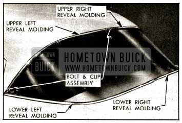 1957 Buick Back Window-Four-Door Models