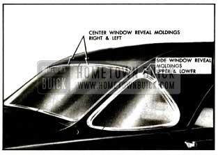 1957 Buick Back Window Reveal Moldings