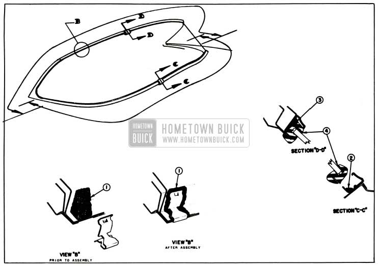 1957 Buick Back Window Sealing Procedure