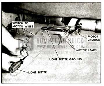 1957 Buick Checking Motor Lead Wires