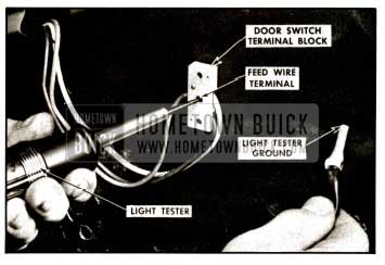 1957 Buick Checking Switch Feed Terminal