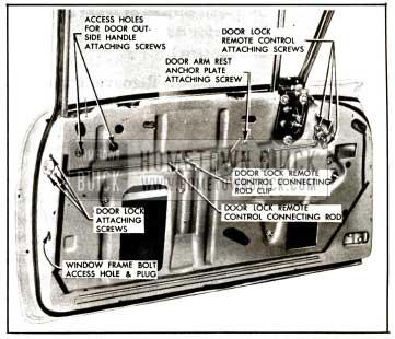 1957 Buick Door Lock Removal-Models 41-48