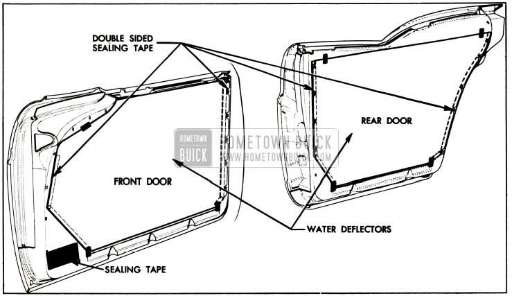 1957 Buick Door Water Deflectors
