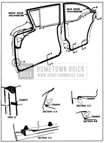 1957 Buick Door Weatherstrips