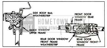 1957 Buick Door Window Frame With Strip Contact