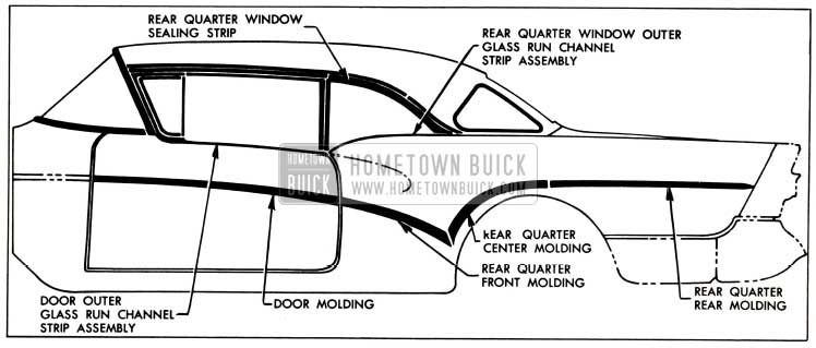 1957 Buick Exterior Moldings-Models 46R-66R