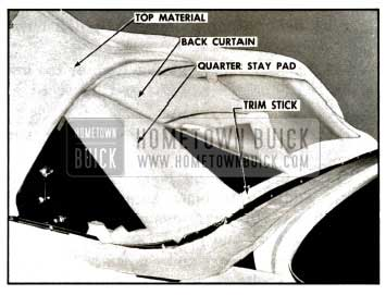 1957 Buick Folding Top Components at Rear Window Area
