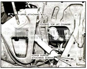 1957 Buick Folding Top Lift Cylinder Installation-Series 50-70