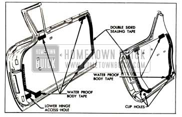 1957 Buick Front and Rear Door Water Deflector Installation