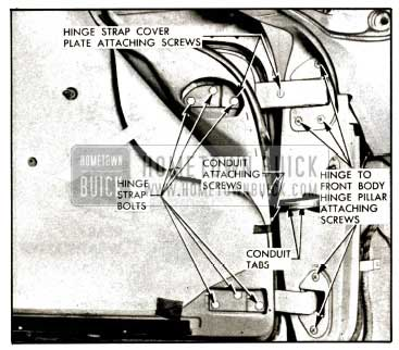 1957 Buick Front Door Hinges Illustration