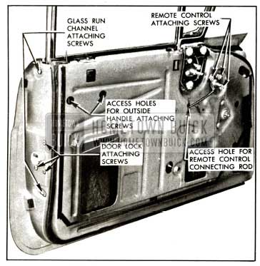 1957 Buick Front Door Lock-Rivieras and Convertibles