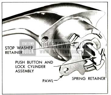 1957 Buick Front Door Outside Handle Assembly-Two-Door Models