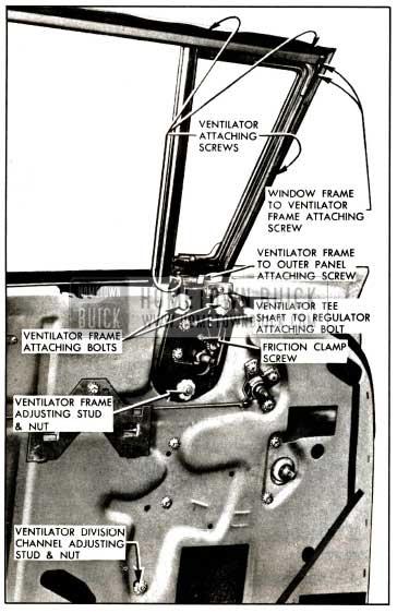 1957 Buick Front Door Ventilator