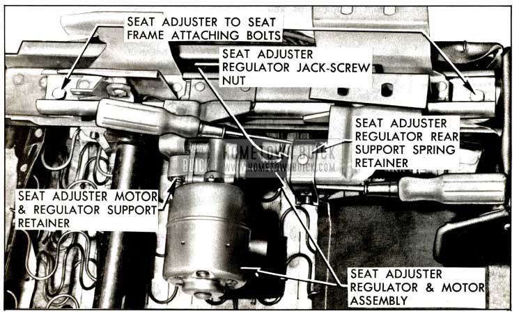 1957 Buick Horizontal Power Seat Regulatar