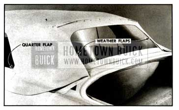 1957 Buick Installation of Weather Flaps and Quarter Flaps