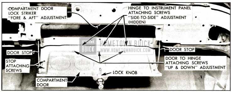 1957 Buick Instrument Panel Compartment Door Parts