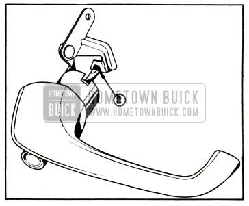 1957 Buick Lubrication of Door Outside Handle